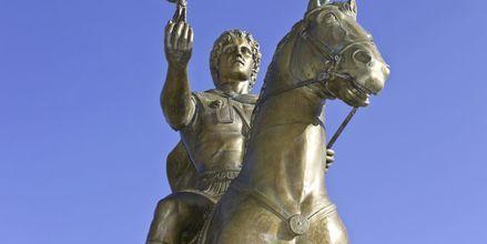 Statue av Alexander den store i Thessaloniki, Hellas