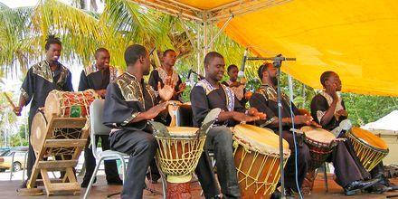 Lokale musikere på Tobago