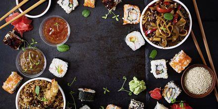 Maten i Tokyo er en herlig blanding av sushi, grillmat, tempura og herlige supper.