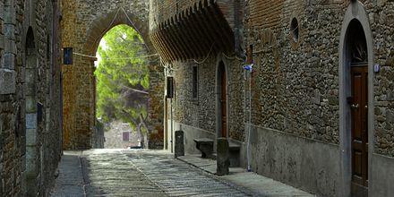 Toscana i Italia.