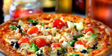 At pizzaen er italiensk i Venezia er ingen overraskelse