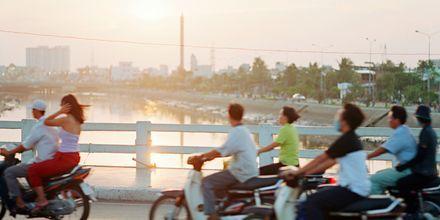 Trafikken er tett i Ho Chi Minh-byen