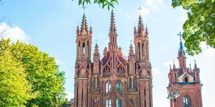 Den Gotiske kirken St. Anne's Church i Vilnius, Litauen.
