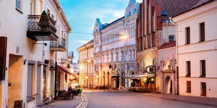 En av Vilnius mest kjente gater, Aušros Vartų.