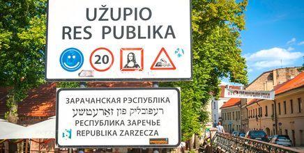 Kunstnerrepublikken Užupis i Vilnius, Litauen.