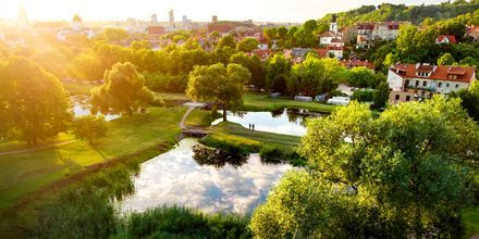 Park i Vilnius, Litauen.