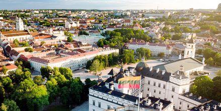 Vakre Vilnius sett ovenfra.
